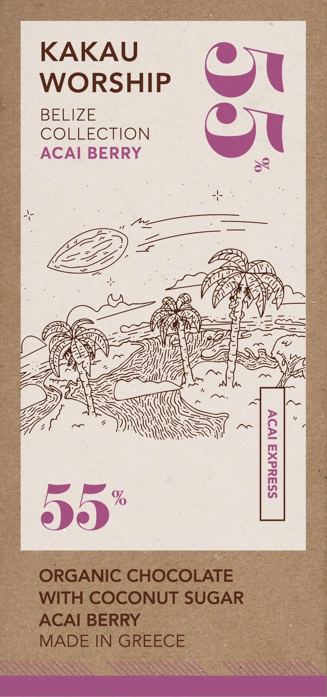 Acai express – organikus csokoládé acai bogyóval