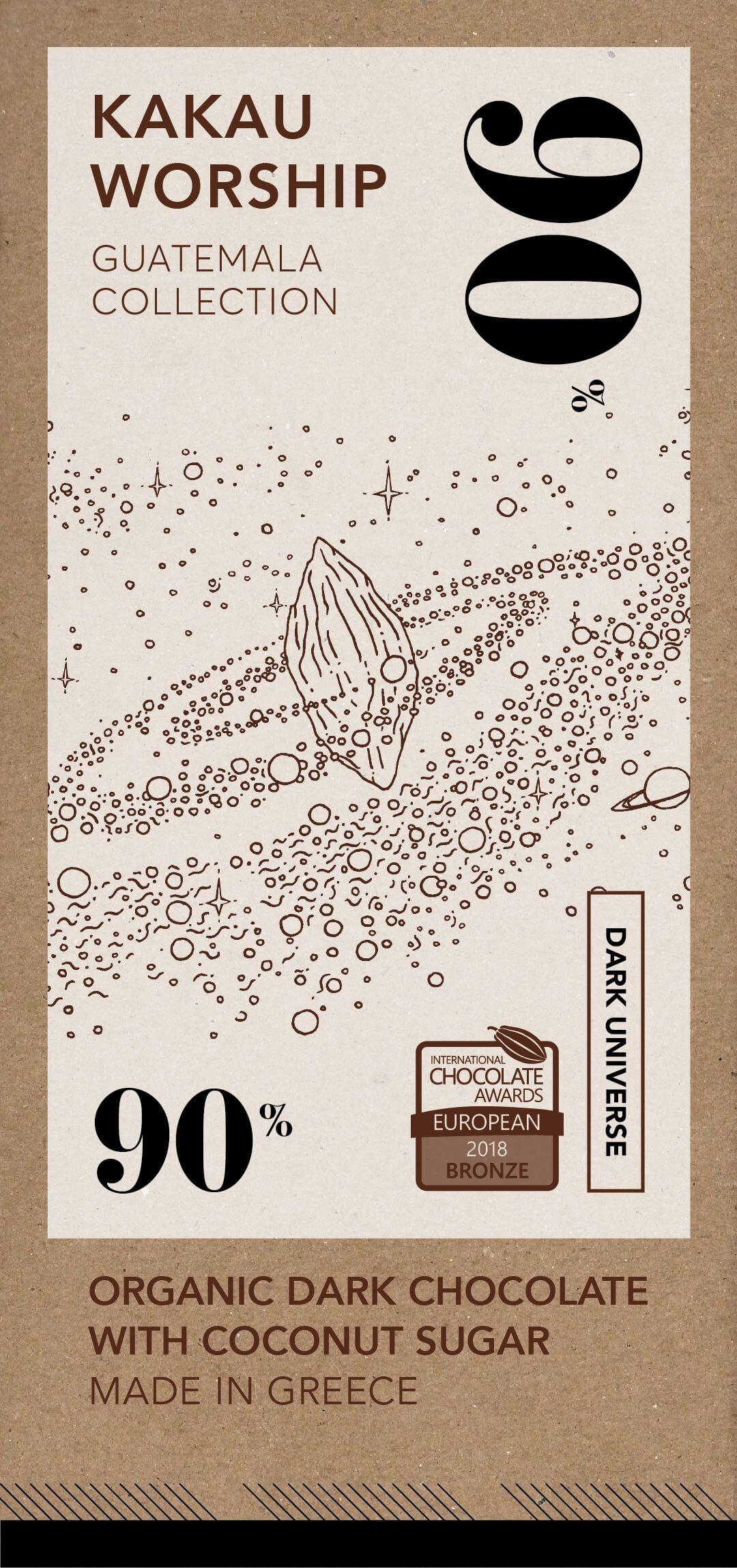 Dark universe - organikus csokoládé 90% - Guatemala