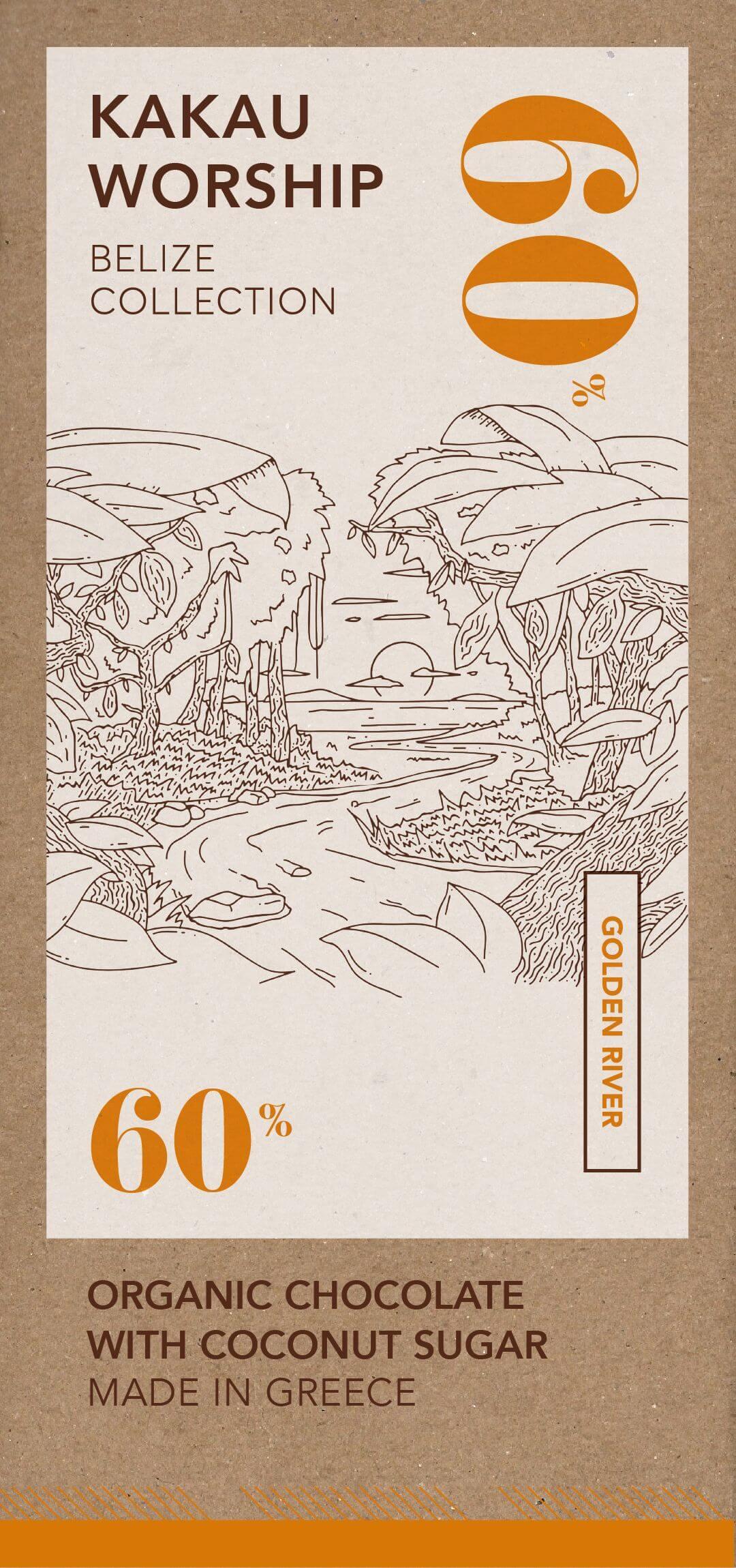 Golden river - Organikus csokoládé 60% - Belize