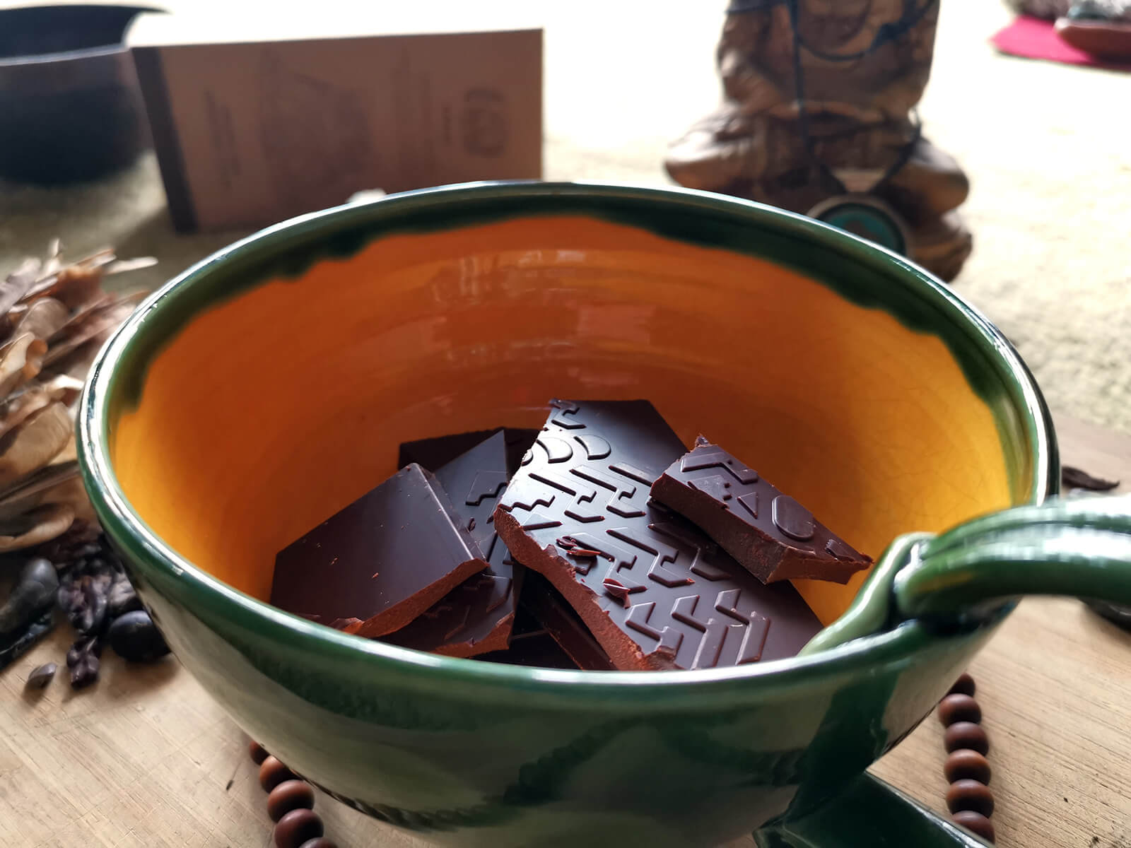 Fair trade ceremoniális csokoládé