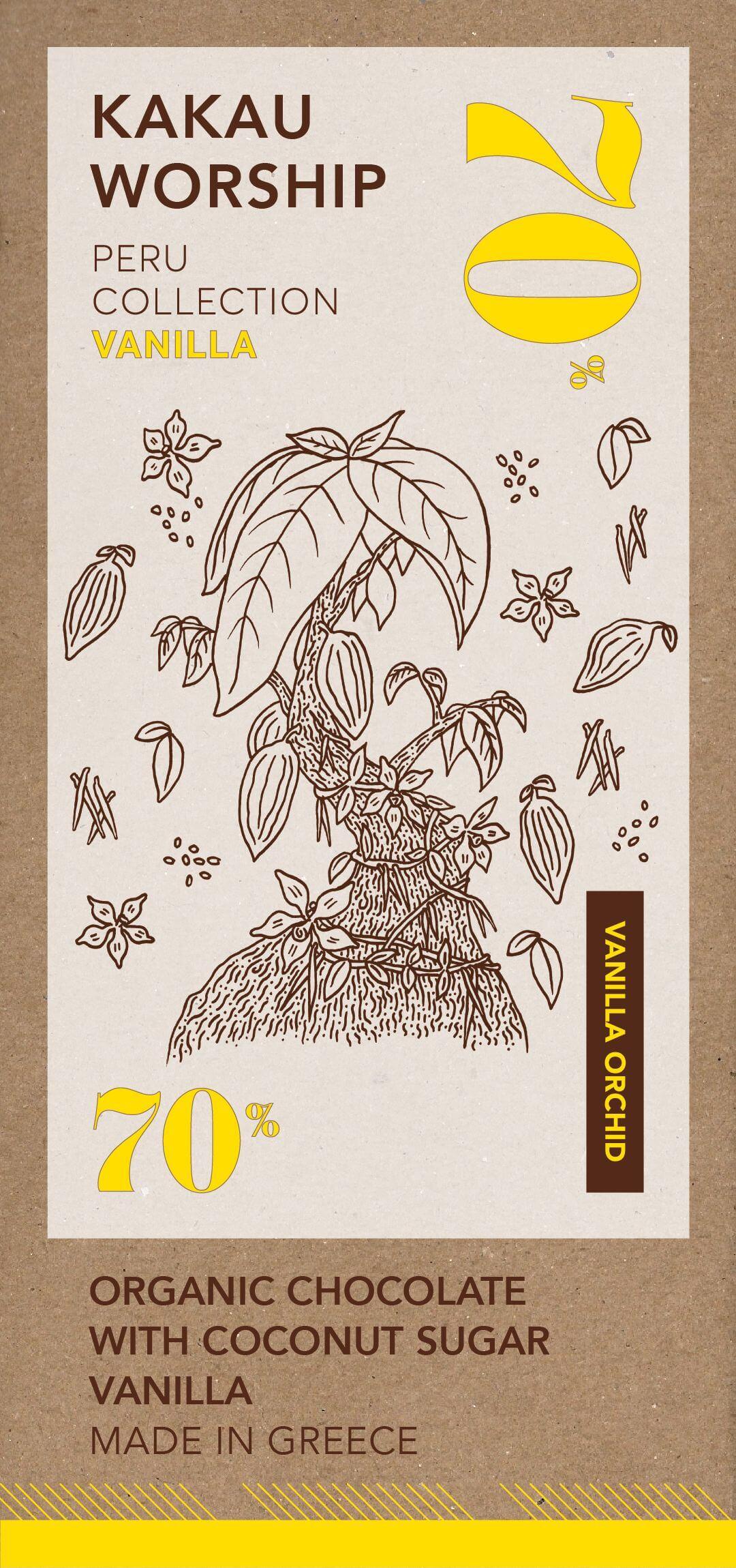 Wanilla orchid - organikus csokoládé vaniliával